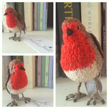 fabric textile bird material 3d Robin
