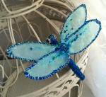 dragonfly, textiles, brooch
