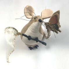 Butterfly Catcher Mouse with net and butterfly
