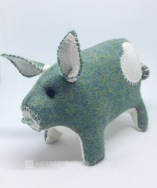 Green Harris Tweed Pig