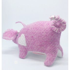 Pink Harris Tweed Pig