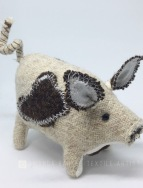 Oatmeal Harris Tweed Pig
