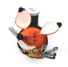 fox brooch tweed