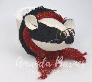 tweed badger red scarf 4